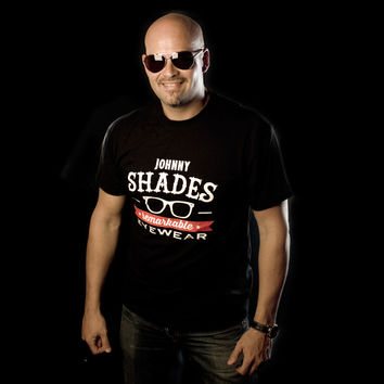 Johnny Shades Logo T Shirt Black
