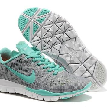 Women's Nike Free TR FIT 3 Training Shoes Grey/Jade