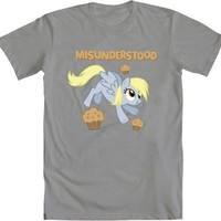 My Little Pony Derpy Misunderstood Adult Silver T-shirt - My Little Pony - | TV Store Online