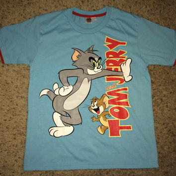 Sale!! Vintage TOM and JERRY casual tee shirt