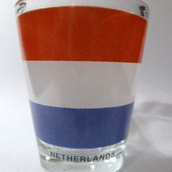Netherlands Flag Shot Glass