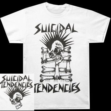SHIRT SUICIDAL TENDENCIES Official Mohawk Skull Men's Punk Rock Band T-Shirt Male shirt