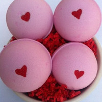 Romance Bath Bomb 4-pack by Blissful Bath