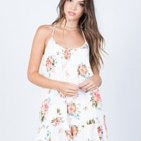 Pretty Ruffled Day Dress