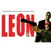"""leon THE PROFESSIONAL with MATILDA quote MOVIE poster 24X36 """"the cleaner"""""""