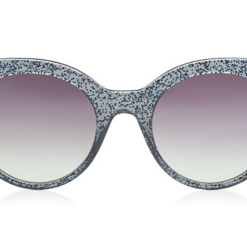Jimmy Choo - Mirta Acetate Cat Eye with Glitter Detail Sunglasses