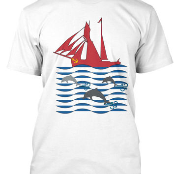 Dolphin Run  Men's Sailing Shirt