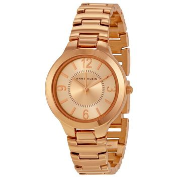 Anne Klein Rose Dial Rose Gold-tone Ladies Watch 1450RGRG
