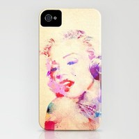 Marilyn Monroe Watercolor iPhone Case by StaciaE | Society6