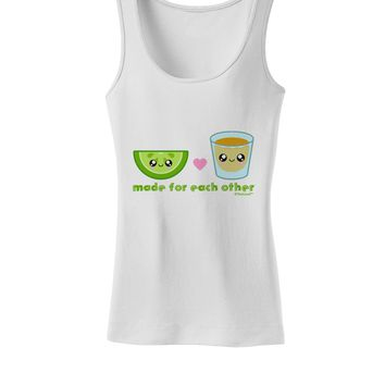 Cute Tequila Shot and Lime - Made For Each Other Womens Tank Top by TooLoud