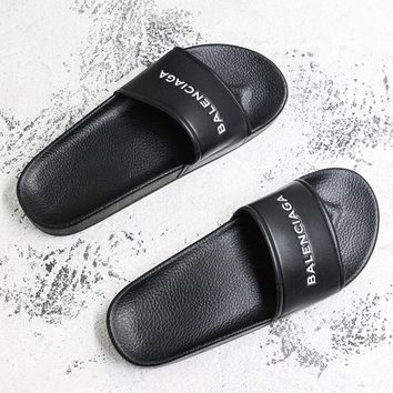 Balenciaga Sandal Slides Black Flip Flops Slippers - Best Deal Online