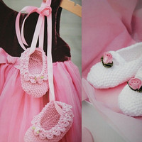 4 pattern lot Girls knitted shoes baby booties PDF Instant Download baby shoes ballet slippers knitting supplies epsteam knitting pattern