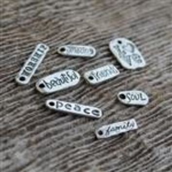 MyGodTags Sterling Silver Inspirational Charms