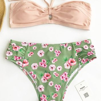 Cupshe Sweet Cherry Halter Bikini Set
