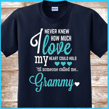 Grammy shirt A great grandmother gift for your grammy. Also names such as Mimi & Nana.  All grandmas would love to wear this Grandma T-shirt