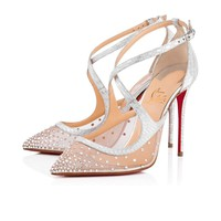 Cl Christian Louboutin Twistissima Strass Version Crystal Strass Bridal 1180014sv57 - Best Online Sale