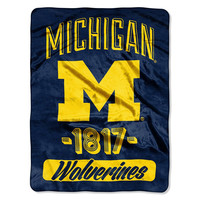 Michigan Wolverines NCAA Micro Raschel Blanket (Varsity Series) (48x60)