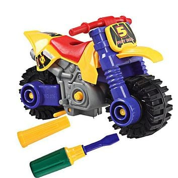Plastic Disassembly Assembly Kids Educational Toy DIY Toys Motorcycle Model Toys for Children