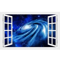 3D wall stickers home decor Star Space Home Decor Art Fake Window Removable Stickers