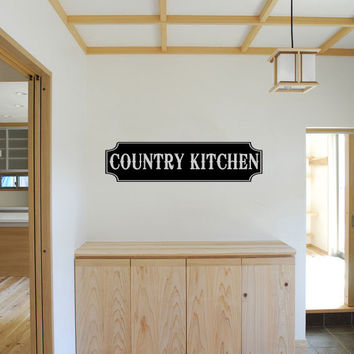 Country Kitchen Vinyl Wall Words Decal Sticker Graphic