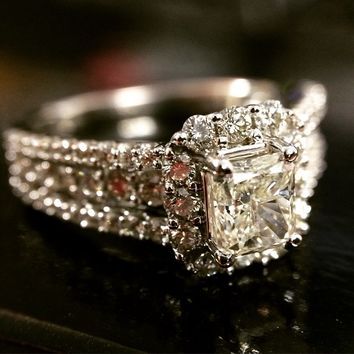Radiant Ready For Love Diamond Engagement Ring Steven Singer Jewelers