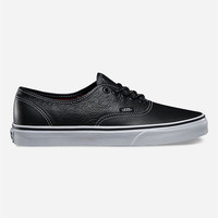 Vans Leather Authentic Shoes Black/White  In Sizes