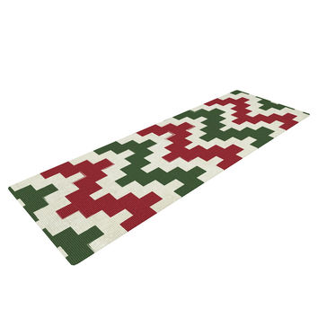 "KESS Original ""Christmas Gram"" Chevron Yoga Mat"