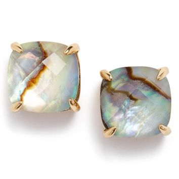 kate spade new york mini small square semiprecious stone stud earrings | Nordstrom