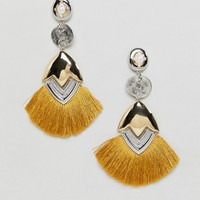 ASOS DESIGN Xl Luxe Tassel Earrings at asos.com