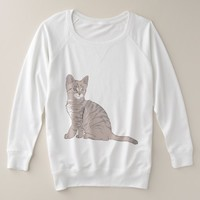Adorable Kitten Plus Size Sweatshirt