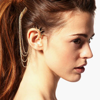 Spike and Hair Comb Cuff Earring