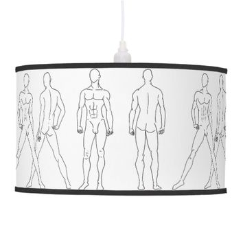 male sketch pendant lamp