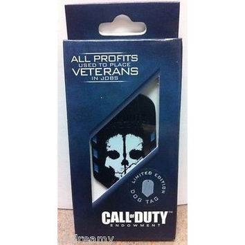Call Of Duty Ghosts Endowment Dog Tag Dogtags Limited Edition 2013