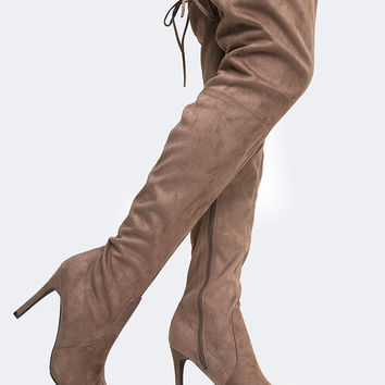 Over The Knee High Heel Boot