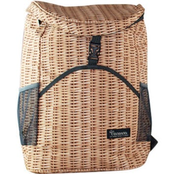 Perfect Faux Wicker Picnic Cooler Backpack
