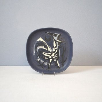 Vintage Richard Saar Plate with Bird Design