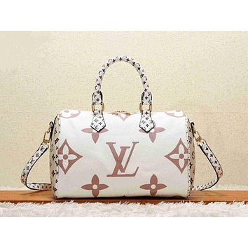shosouvenir LV Louis Vuitton Women Shopping Leather Tote Crossbody Satchel Shoulder Bag