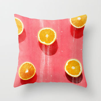 fruit 5 Throw Pillow by LEEMO