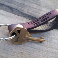 Custom Leather Keychain,  Leather Keychain, Personalized Leather Key Chain
