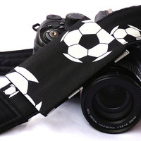 Soccer Camera Strap with pocket. Sport Camera Strap. SLR, DSLR Camera Strap. Gift For Photographer. Camera Accessories