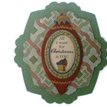 Vintage Christmas Scrapbook embellishment, Paper piecing, gift tags, Scrapbooking Layouts, Cards, Mini Albums Paper Crafts