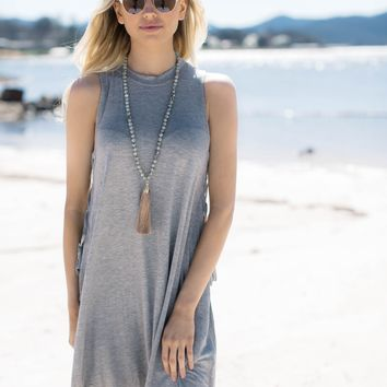 Over Everything Knit Dress, Heather Grey