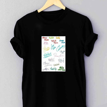 "Disney all character signature - T Shirt for man shirt, woman shirt ""NP"""