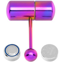 Purple Titanium LIX Vibrator Tongue Ring | Body Candy Body Jewelry