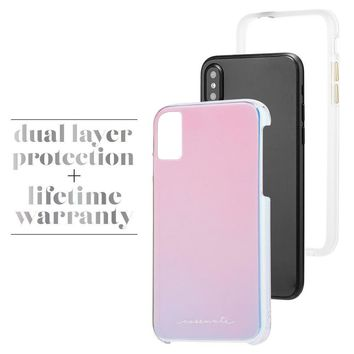 Case-Mate iPhone X Case - NAKED TOUGH - Iridescent - Slim Protective Design for Apple iPhone 10 - Iridescent
