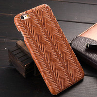 Brown Weave iPhone 6 6s Plus Case Cover Gift 20