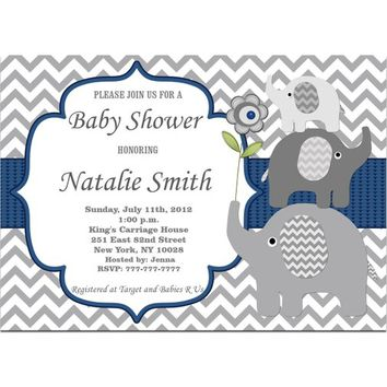 Baby Shower Invitations Boy | Elephant Baby Shower Invitation Boy Printable | Baby Boy Shower Invites | Instant Download | Editable PDF (06)