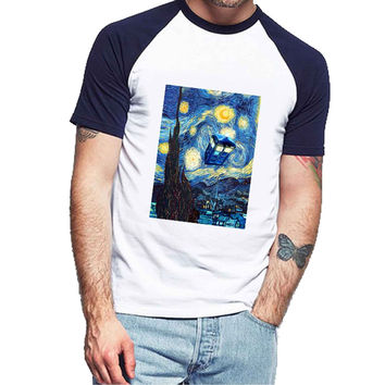 Doctor Who Van Goh 177d95d3-9ef7-4b8c-9a90-60e395ef9de5 For Man Raglan and Woman Raglan XS / S / M / L / XL / 2XL *NP*