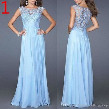 Lace Long Evening Dresses Formal Evening Gowns Party Prom Dresses Elegant and Fashion Casual Dresses