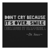 Dr. Seuss Quote Typography Black & Gray Poster